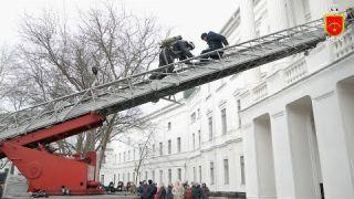 Пожежники провели евакуацію у аграрному університеті