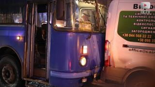 Пасажирський автобус потрапив у ДТП (Біла Церква) 26.02.2018