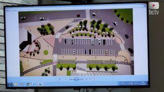 Реконструкція Соборної площі (біля райдержадміністрації)