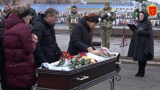 Прощання із загиблим воїном, військовослужбовцем 1129-го Білоцерківського ЗРП Олегом Ницюком