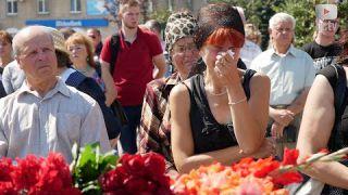 Прощання із 23-річним військовослужбовцем, якого вбили на Харківщині